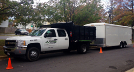 Commercial and residential landscaping service truck