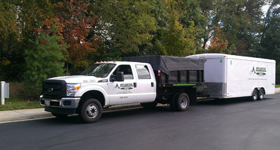 Full Service Landscaping Truck and Trailer