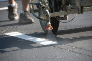Restriping a Parking Lot